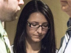 Emma Czornobaj is pictured at a Montreal Courthouse, June 3, 2014. THE CANADIAN PRESS/Graham Hughes
