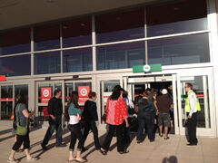 It looked like more than 100 people were lined up ready to get inside at 8 a.m., but Target staff helped the lines flow smoothly.
