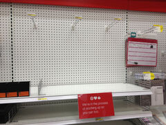 Target is still waiting on the odd bit of stock, but by and large the shelves are full to bursting.