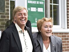 Parti Quebecois Leader Pauline Marois and her husband Claude Blanchet in Beaupre, Que., September 4, 2012. THE CANADIAN PRESS/Jacques Boissinot