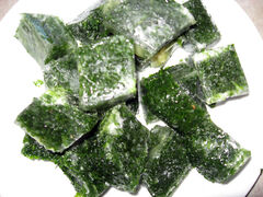 "Frozen ""parsley cubes"" are used in the kitchen during the winter to add a taste of summer to many recipes."