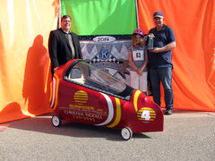 Best Design was awarded for the car built and entered by Les and Christine Riddell. The driver was Jordan Stewart.