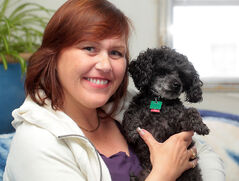 Leanne Hermary Fortune has been reunited with her teacup poodle LJ who turned up about 130 kilometres from Brandon after Hermary Fortune's Jeep was broken into a week ago.
