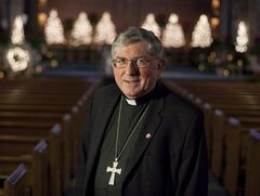 Toronto's Thomas Cardinal Collins, shown in a Jan.6, 2012 file photo, says he is keeping an open mind and will keep an open ear to the advice of other cardinals as he heads to Vatican City to help select a new pope.THE CANADIAN PRESS/Pawel Dwulit