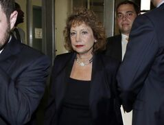 Judy Rapfogel, wife of William Rapfogel, and longtime aide and chief of staff for New York State Assembly Speaker Sheldon Silver leaves New York state Supreme Court, after her husband was sentenced, Wednesday, July 23, 2014, in New York. William Rapfogel was sentenced to a term of 40 months to 10 years in prison for helping to steal more than $9-million from the Metropolitan Council on Jewish Poverty. (AP Photo)