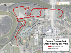 A new cross-country ski trail at the Canada Games Park along the Assiniboine River corridor is now open.