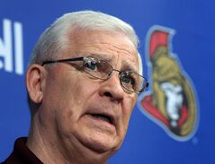 Ottawa Senators general manager Bryan Murray holds a news conference on Tuesday, May 28, 2013 in Ottawa. Murray wants to do right by Jason Spezza, but not at the expense of the Senators. THE CANADIAN PRESS/Fred Chartrand