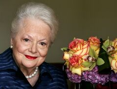 FILE - In this Wednesday, Sept. 15, 2004, file photo, actress Olivia de Havilland, who played the doomed Southern belle Melanie in