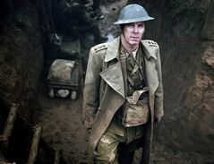 This publicity image released by HBO shows Benedict Cumberbatch is shown in the five-part miniseries