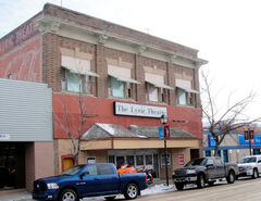 The Swift Current Lyric Theatre in its present usable state. Future plans are to upgrade the entranceway.