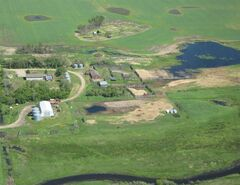 Flooded farmer's fields are shown in southwestern Manitoba in a recent handout photo.Farmers are having problems seeding their fields because of rain and flooding. THE CANADIAN PRESS/HO-Rural Municipality of Edward
