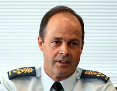 General Tom Lawson, Chief of Defence Staff, is shown in his office at National Defence haedquarters in Ottawa, Friday, August 1, 2014. THE CANADIAN PRESS/Fred Chartrand