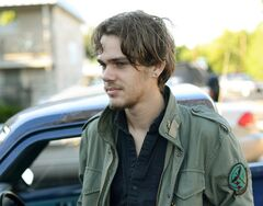 This image released by IFC Films shows Ellar Coltrane at age eighteen in a scene from the film,