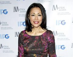 FILE - This April 23, 2012 file photo shows Ann Curry at the Matrix Awards in New York. Curry was rescued by a troop of New Jersey Boy Scouts when she broke her leg while hiking with her family on Bear Mountain in New York's Harriman State Park on April 5, 2014. Members of Troop 368 from Berkeley Heights, New Jersey, stopped to help the injured NBC News correspondent, creating a splint for her ankle and fashioning a stretcher from logs and a tarp. They then carried her down the mountain. (AP Photo/Charles Sykes, File)