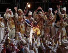 Vladislav Tretyak carries the torch during the opening ceremony of the 2014 Winter Olympics in Sochi, Russia, Friday, Feb. 7, 2014. (AP Photo/Ivan Sekretarev)