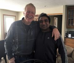 Subhash Goyal, right, was stranded in his vehicle north of Killarney for 17 hours during last week's treacherous blizzard until he was rescued by farmer Dave Kroeker.