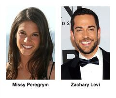 Actors Missy Peregrym and Zachary Levi are pictured in recent photos. Missy Peregrym, Canadian star of Global's