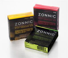 This undated product photo provided by Reynolds American Inc. shows Zonnic brand nicotine gum. Reynolds American Inc., the nation's second-largest tobacco company, on Thursday, Sept. 4, 2014 announced plans to take the product nationwide, challenging the pharmaceutical industry's hold and pricing power of the market for products to help people stop smoking. (AP Photo/Reynolds American Inc.)