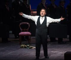 "FILE - In this April 25, 2014 file photo provided by the Metropolitan Opera, Javier Camarena performs as Don Ramiro during a performance of ""La Cenerentola"" at the Metropolitan Opera in New York. After giving a rare encore at New York's Metropolitan Opera earlier this year, Camarena is marking the 10th anniversary of his international career this week by giving his first professional performance in the city of his birth. The benefit concert for cancer patients will be held Friday, July 4 in Camarena's native Xalapa, capital of the Gulf state of Veracruz. (AP Photo/Metropolitan Opera, Marty Sohl, File)"