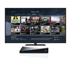 This product image provided by Sling Media shows SlingTV. The new SlingTV is identical to the Slingbox 500 currently on the market, but with new software to recommend things to watch. On the living-room TV, you can see scores and stats for games currently on TV, along with a guide to what's exciting at the moment, such as a team making a comeback. The new software will also give you more information on movies and TV shows. (AP Photo/Sling Media)