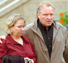In this 2005 photo, Debbie and Darcy Chorney leave the Brandon courthouse during a recess in the first-degree murder trial of Michael Bridges.
