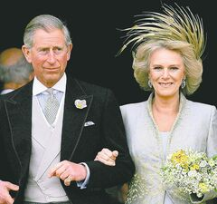 Prince Charles and Camilla Parker Bowles shortly after they were married in April 2005.