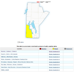 Environment Canada's severe thunderstorm watches on May 29.