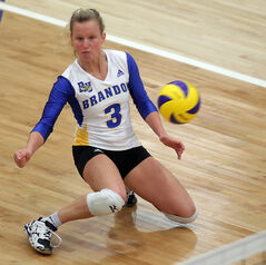 Brandon University's Donata Huebert of Brandon University was named the CIS's top libero and a first-team all-Canadian on Thursday.