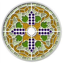 The design of a silver collector coin from the Royal Canadian Mint, celebrating the art of Casa Loma's stained glass, is shown in a handout image released on Tuesday August 5, 2014. THE CANADIAN PRESS/HO