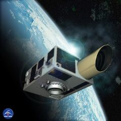 This is an artist's rendering of the NEOSSat satellite which will be launched Monday from India. There's a lot riding on NEOSSat and Sapphire, two Canadian satellites scheduled to be launched from India on Monday.THE CANADIAN PRESS/ho-Canadian Space Agency