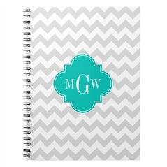 This photo provided by Zazzle shows a monogram spiral notebook. Monogrammable notebooks for back-to-school come in a variety of cool designs including geometrics and animal prints. Kids can also design their own by uploading photo collages and adding type. (AP Photo/Zazzle)