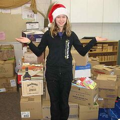 Katie Wilson, a Grade 6 student at Riverview School, collected more than 2,600 books as part of a book drive.
