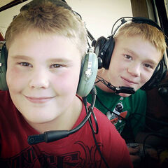 Logan Spence, front, Gage Spence, back, their father Darren Spence and friend Dawson Pentecost died in a plane crash near Waskada on Feb. 10, 2013.