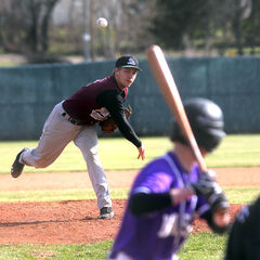 Plainsmen starter Kyle Johnston delivers a pitch on Wednesday.