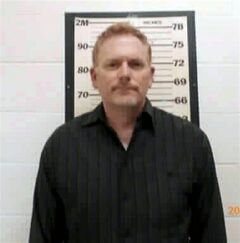 "In this Sunday, July 13, 2014 photo released by the Wayne County Sheriff, Randall Miller poses for a photo. ""Midnight Rider"" director Randall Miller and two others have been charged with manslaughter and criminal trespassing in connection with a Feb. 20 crash in which a freight train plowed into their film crew on a railroad bridge in southeast Georgia. A camera assistant was killed and six workers were injured. (AP Photo/Wayne County Sheriff)"