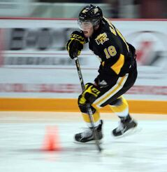 Richard Nejezchleb competes in the speed event at Sunday's Scotiabank Skills Day competition at Westman Place.