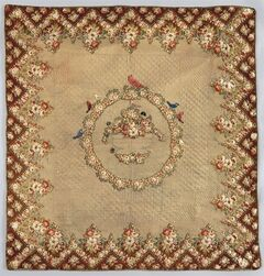 This photo provided by the New-York Historical Society shows a quilt called