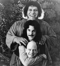 Andr� The Giant, top, Mandy Patinkin, centre, and Wallace Shawn in