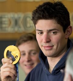 Montreal Canadiens and Team Canada goaltender Carey Price shows his gold medal to the media at the team's practice facility Monday, February 24, 2014 in Brossard, Que. THE CANADIAN PRESS/Ryan Remiorz