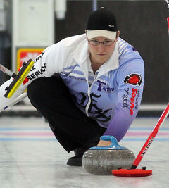 Steve Irwin (above) and Stacey Fordyce (below) skip teams in the Dominion Club Curling provincials this weekend.