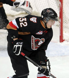 Elkhorn's Travis Sanheim (above) of the Calgary Hitmen and Roblin's Jayce Hawryluk of the Brandon Wheat Kings, who regulary work out together in the Wheat City, have both been selected to take part in the Canadian junior hockey team's summer development camp.