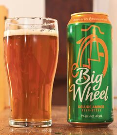 I gave the Amsterdam Big Wheel Amber Ale a three out of five pints.