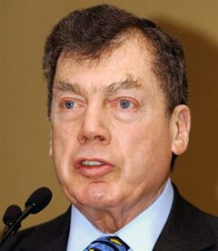In this Jan. 10, 2005 photo, World Jewish Congress President Edgar M. Bronfman is pictured in Brussels. THE CANADIAN PRESS/AP, Thierry Charlier