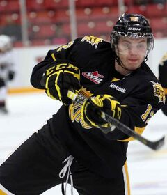 Brandon Wheat Kings forward Jesse Gabrielle scored in Team West's 4-3 victory over Germany on Friday.