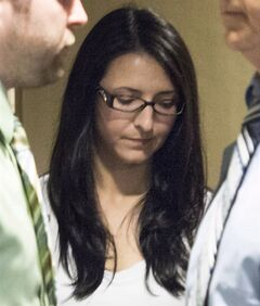 Emma Czornobaj is pictured at the Montreal Courthouse in Montreal, on June 3, 2014. THE CANADIAN PRESS/Graham Hughes