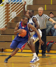 Denham Buchanan has played basketball in Oklahoma for Murray State College and in Ontario for the Waterloo Warriors.