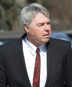 Robert Latimer arrives at the funeral of his mother in Wilkie, Sask., Thursday, March 27, 2008. The lawyer for Latimer says his client should be allowed to travel outside Canada. THE CANADIAN PRESS/Geoff Howe