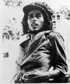 """FILE - This 1976 file photo originally released by Island Records shows Jamaican reggae singer Bob Marley. A musical about Bob Marley that uses the Jamaican reggae icon's music is in the works for next year. Center Stage in Baltimore said Tuesday it would present the world premiere of """"Marley,"""" written and directed by company artistic director Kwame Kwei-Armah. It will play May 6 to June 14, 2015. (AP Photo/Island Records, File)"""