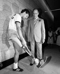Terry Fox meets with Prime Minister Pierre Trudeau in Ottawa on July 2, 1980. Canadians have handed the Harper government a Top 10 list of the country's greatest heroes. THE CANADIAN PRESS
