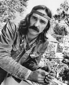 FILE - In a Oct. 1971 file photo, director-actor Dennis Hopper poses in Hollywood, Calif. To celebrate the legacy of Dennis Hopper and his iconic counterculture film